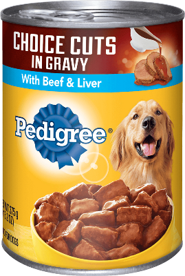 Beef Liver And Gravy Canned Dog Food Pedigree
