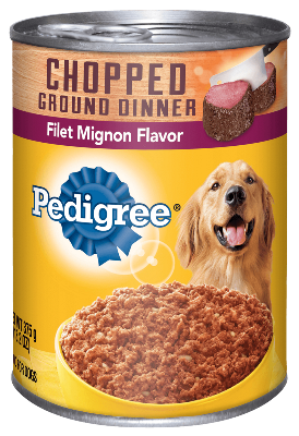 Pedigree Chopped Ground Dinner Filet Mignon Flavor