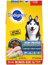 PEDIGREE® High Protein Dog Food Chicken and Turkey Flavor
