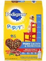 PEDIGREE® Puppy Growth & Protection Dog Food Grilled Steak and Vegetable Flavor