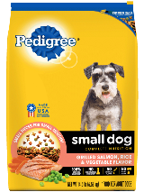 package of Pedigree chicken rice vegetable dry food for small dogs