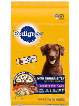 Pedigree®  tender bites chicken steak front of bag