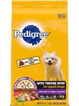 PEDIGREE® TENDER BITES™ Chicken & Steak Flavor, Complete Nutrition Adult Small Breed Dry Dog Food FRONT