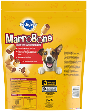 PEDIGREE® MARROBONE™ Real Beef Flavor Snacks for Dogs BACK