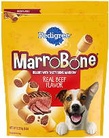 PEDIGREE® MARROBONE™ Real Beef Flavor Snacks for Dogs FRONT