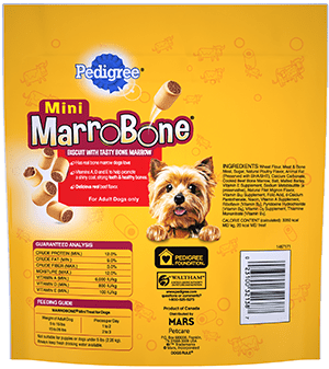 PEDIGREE® MARROBONE™  Real Beef Flavor Toy/Small Snacks for Dogs BACK