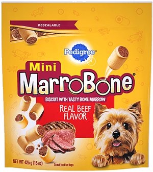 PEDIGREE® MARROBONE™  Real Beef Flavor Toy/Small Snacks for Dogs FRONT