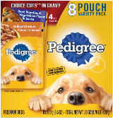 PEDIGREE® CHOICE CUTS™ In Gravy 8 Pouch Variety Pack Beef