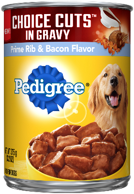PEDIGREE® CHOICE CUTS™ In Gravy Prime Rib And Bacon Flavor Dog Food
