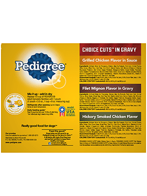 Multi-pack of PEDIGREE® CHOICE CUTS® in Gravy