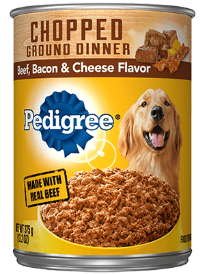 Pedigree Chopped Ground Dinner Beef, Bacon & Cheese