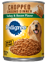 Pedigree Chopped Ground Dinner Turkey & Bacon Flavor