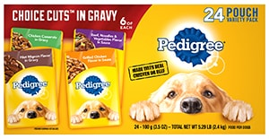 PEDIGREE® CHOICE CUTS™ in Gravy Adult Wet Meaty Dog Food Variety Pack BACK