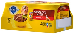 PEDIGREE® CHOICE CUTS™  in Gravy With Beef Wet Dog Food Multipack FRONT