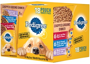 PEDIGREE®  Chopped Ground Dinner wet Meaty Dog Food Variety Pack FRONT