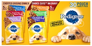 PEDIGREE® Chopped Ground Dinner & PEDIGREE® CHOICE CUTS™ in Gravy Adult Wet Dog Food Variety BACK
