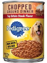 PEDIGREE®  Chopped Ground Dinner Sirloin Flavor Wet Dog Food FRONT