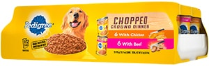 PEDIGREE®  Chopped Ground Dinner with Beef & Chicken Wet Dog Food Variety Pack FRONT