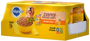 PEDIGREE®  Chopped Ground Dinner with Chicken Wet Dog Food Multipack FRONT