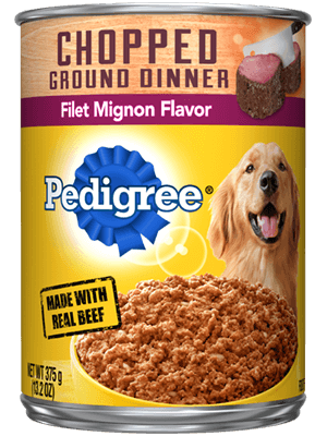 Pedigree Chopped Ground Dinner Filet Can