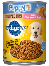 Pedigree Chopped Ground Dinner Puppy Chicken Beef