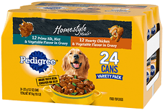 PEDIGREE® Homestyle Meals Adult Canned Wet Dog Food Variety Pack FRONT