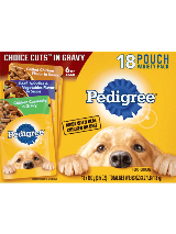Pedigree Choice Cuts 18 Pouch Variety Chicken Casserole Grilled Chicken Beef noodles vegetables