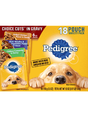 PEDIGREE® CHOICE CUTS™ In Gravy 18 Pouch Variety Pack Beef