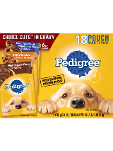 PEDIGREE® CHOICE CUTS™ In Gravy 18 Pouch Variety Pack