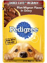 PEDIGREE® CHOICE CUTS™ In Gravy Filet Mignon Flavor In Gravy Pouch