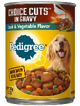 PEDIGREE® CHOICE CUTS™ In Gravy Steak And Vegetables Canned Dog Food