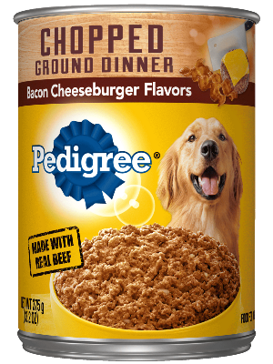 PEDIGREE® Chopped Ground Dinner Bacon Cheeseburger Flavor Pouch