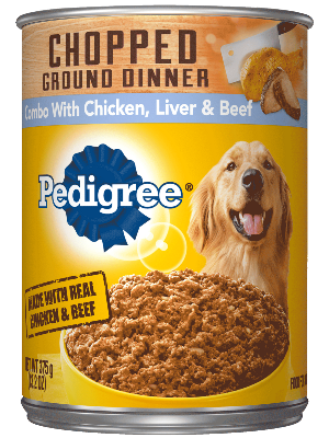 PEDIGREE® Chopped Ground Dinner Chicken, Liver And Beef Canned Dog Food