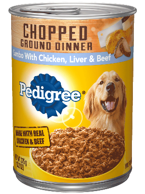 Pedigree_ChoppedGround_ChickenLiverBeef_Can_375g_tilt
