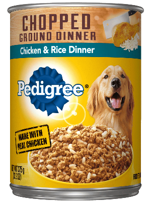 PEDIGREE® Chopped Ground Dinner Chicken And Rice Dinner Canned Dog Food