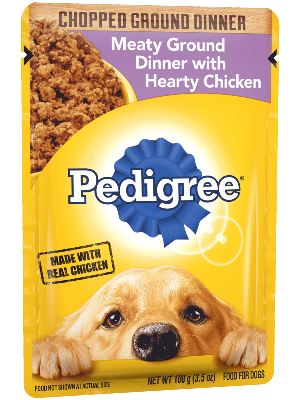 PEDIGREE® Chopped Ground Dinner Hearty Chicken Pouch