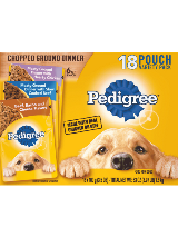 Pedigree Chopped Ground Dinner 18 Pouch Variety Beef Chicken Bacon cheese