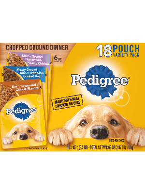 PEDIGREE® Chopped Ground Dinner 18 Pouch Variety Pack
