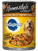 PEDIGREE® Homestyle Chicken, Rice, And Vegetables In Can